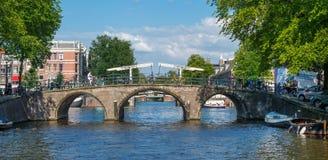 Broar i Amsterdam Arkivfoto