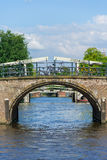 Broar i Amsterdam Arkivbilder