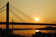 Broar i Belgrade Arkivbild