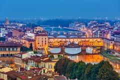Broar i Florence Arkivbild