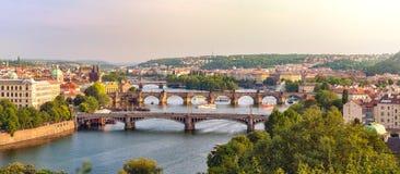 Broar i Prague Royaltyfria Bilder