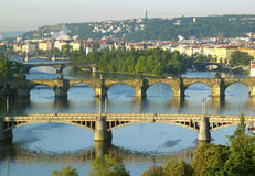 Broar i Prague Arkivbilder