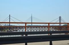 Broar och staket royaltyfri fotografi
