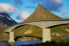 Broar på Lofoten Royaltyfri Fotografi