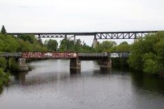 broar två Arkivfoto