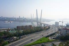 Broar Vladivostok primorsky snowstorm för krai Ryssland Fotografering för Bildbyråer
