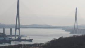 Broar Vladivostok primorsky snowstorm för krai Ryssland Arkivfoto