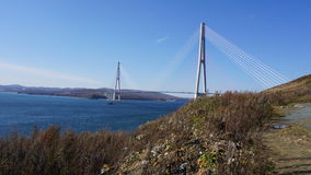 Broar Vladivostok primorsky snowstorm för krai Ryssland Royaltyfri Foto