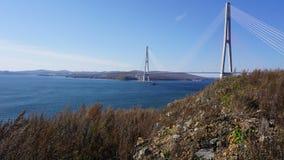 Broar Vladivostok primorsky snowstorm för krai Ryssland Arkivbild