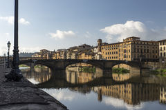 Broarna av Florence Italy Royaltyfri Foto