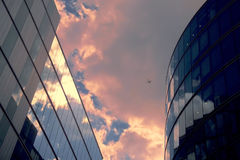 Büroblöcke Stockbild