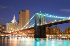 brobrooklyn stad manhattan New York Royaltyfri Fotografi