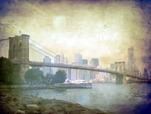 brobrooklyn stad New York Arkivfoto