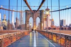 brobrooklyn stad nya USA york Royaltyfria Foton