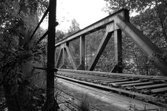 brobw-järnväg Arkivbilder