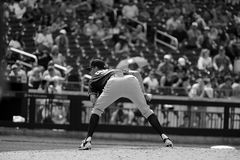 Broc de base-ball sur le monticule Image stock
