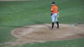 Broc de base-ball, tangage, jetant, athlètes, sports