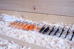 Broca dobro do passador da flauta Ferramentas da precisão para a indústria do woodworking imagem de stock