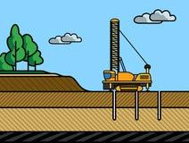 Broca giratória de mineração ilustração royalty free