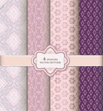 Brocade background set in retro style. Royalty Free Stock Photos