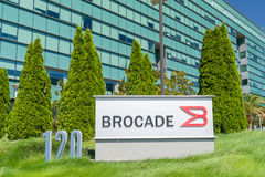 Brocade Communications Systems Headquarters and Logo Stock Photography