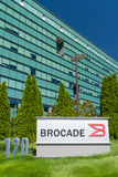 Brocade Communications Systems Headquarters and Logo Royalty Free Stock Image