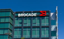 Brocade Communications Systems Headquarters and Logo Royalty Free Stock Images