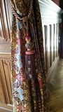Brocade curtains Stock Images