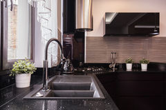 Brocade kitchen design Stock Photo