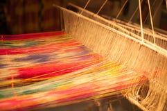 Brocade spinning in Nanjing, China Royalty Free Stock Photos