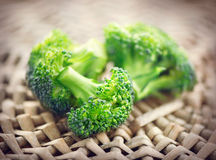 brocaded Ny grön broccoligrupp arkivfoton