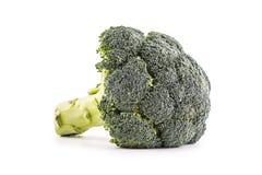 brocaded Rå broccoli på vit bakgrund royaltyfria bilder