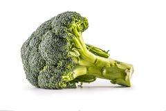 brocaded Rå broccoli som isoleras på vit bakgrund royaltyfria bilder
