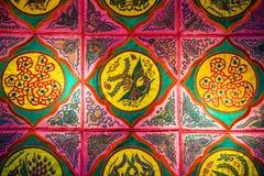 Brocado de Zhuang, fondo chino de la tela Imagen de archivo libre de regalías