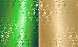 brocado floral de oro del vector Foto de archivo