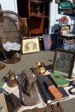 Brocante of weekend antieke markt, Frankrijk stock afbeelding