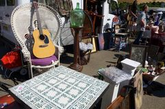 Brocante or weekend antique market, France Stock Photo