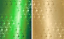 brocard floral d'or de vecteur Photo stock