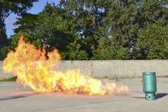 Brocas de fogo da prática foto de stock