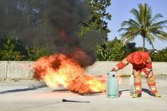 Brocas de fogo da prática fotos de stock
