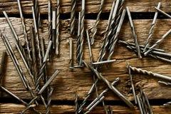 Brocas em um fundo de madeira fotografia de stock royalty free