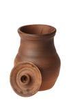 Brocca ceramica con il coperchio rimosso Fotografia Stock