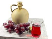 Brocca del vino Fotografia Stock