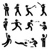 Brocca dell'oscillazione di softball di baseball Fotografia Stock