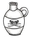 Brocca della bottiglia del veleno Fotografia Stock