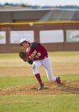 Brocca di baseball della High School immagine stock