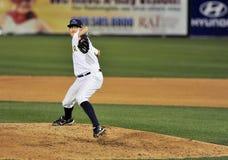Brocca di baseball della Lega Minore Fotografie Stock