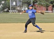 Brocca di baseball della piccola lega Fotografie Stock