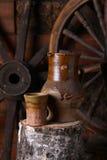 Brocca tradizionale di vino Fotografia Stock
