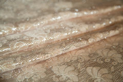 Broccato del tessuto, colorato di pesca Immagini Stock Libere da Diritti